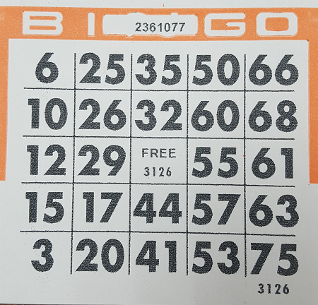 4x4 bingo single pack 250 cards for 4x4 bingo template