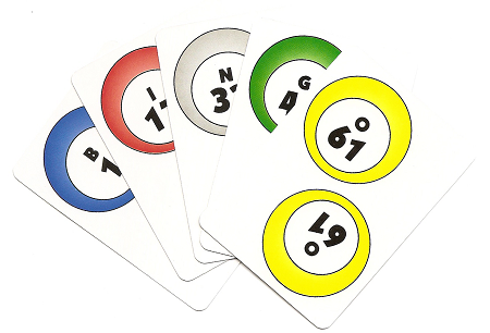 picture about Printable Bingo Calling Cards named Deck of Numbered BINGO Speaking to Playing cards 1-75