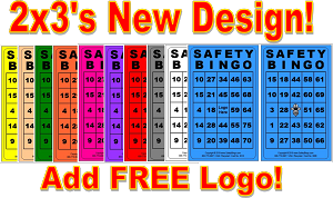 2x3 SAFETY BINGO - Variety 10 Pk (2500 BW Cards)