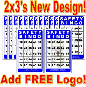 2x3 SAFETY BINGO - Case of 12 Pks (1200 Color Cards)