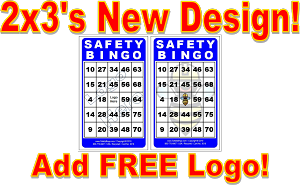 2x3 SAFETY BINGO - Single Pack (100 Color Cards)