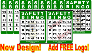3x4 SAFETY BINGO - Case of 12 Pks (1200 Color Cards)