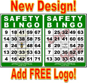 4x5 SAFETY BINGO - Single Pack (100 Color Cards)