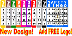 3x4 SAFETY BINGO - Variety 10 Pk (1000 Color Cards)
