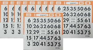 4x4 BINGO - Case of 12 Pks (3000 Cards)  See our newest designs with more colors!