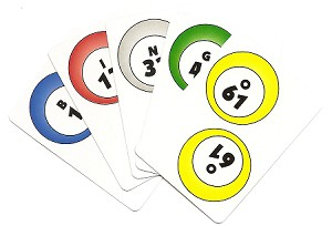 Deck of Numbered BINGO Calling Cards 1-75
