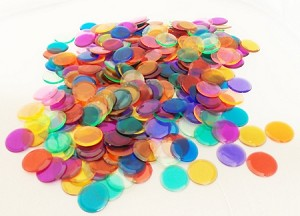 Plastic Chips (approx. 300 count in assorted colors only)