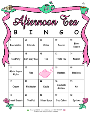 Alpha Kappa Custom Bingo Card