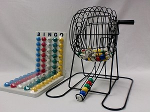 12 inch Cage and Bingo Balls with Holder