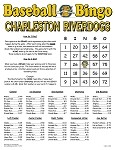 Charleston Riverdogs Baseball Bingo Custom Card