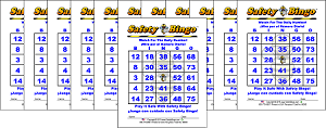 3x4 English / Spanish BINGO - Case of 12 Pks (1200 Color Cards)