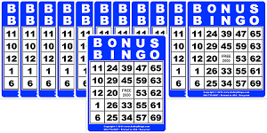 3x4 BONUS BINGO - Case of 12 Pks (1200 Color Cards)