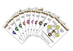 3x4 Baseball - Variety 10 Pk (1000 Color Cards)