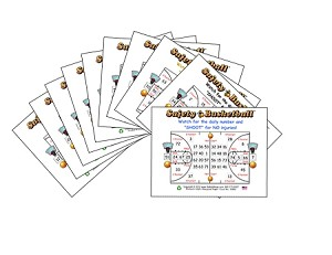 3x4 Basketball - Variety 10 Pk (1000 Color Cards)