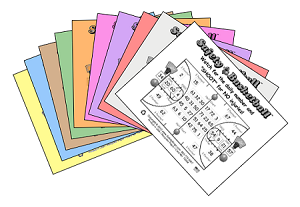 3x4 Basketball - Variety 10 Pk (2500 BW Cards)