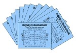 3x4 Basketball - Case of 12 Pks (3000 BW Cards)