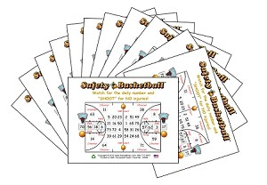 3x4 Basketball - Case of 12 Pks (1200 Color Cards)