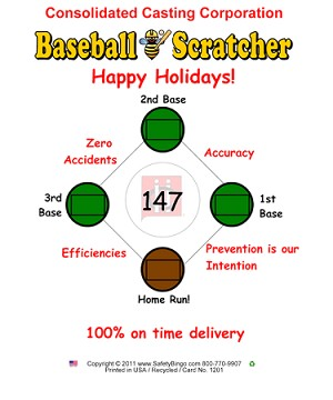 Consolidated Castings Custom Baseball w/ Scratcher