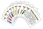 3x4 Hockey - Variety 10 Pk (1000 Color Cards)