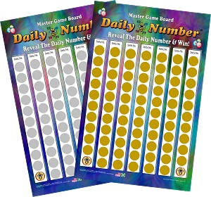 Daily Number Scratch Off Board