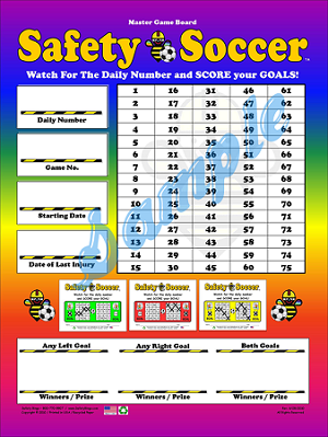 Safety Soccer Master Board (Laminated)