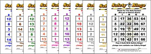 3x4 English / Spanish BINGO - Variety 10 Pk (1000 Color Cards)