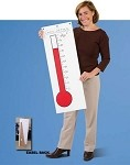 Portable Goal Getter Thermometer (with self-supporting Easel-back)
