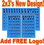 2x3 SAFETY BINGO - Case of 12 Pks (3000 BW Cards)