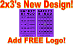 2x3 SAFETY BINGO - Single Pack (250 BW Cards)