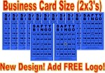 2x3 SAFTY BINGO - Case of 12 Pks (3000 BW Cards)
