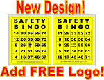 3x4 SAFETY BINGO - Single Pack (250 BW Cards)