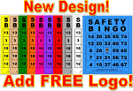 3x4 SAFETY BINGO - Variety 10 Pk (2500 BW Cards)