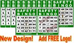 4x5 SAFETY BINGO - Case of 12 Pks (1200 Color Cards)