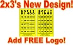 2x3 SAFTY BINGO - Single Pack (250 BW Cards)