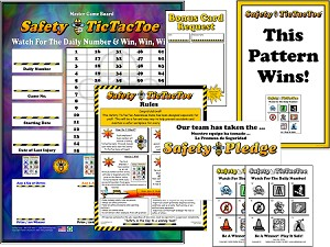 Safety Tic Tac Toe Program with Admin Materials
