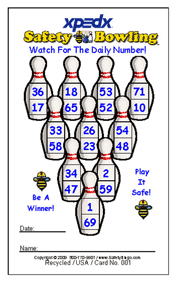 X Ped X Custom Bowling Card